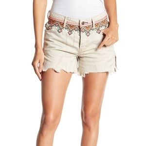 Free People Embroidered Cut-Off Shorts 31